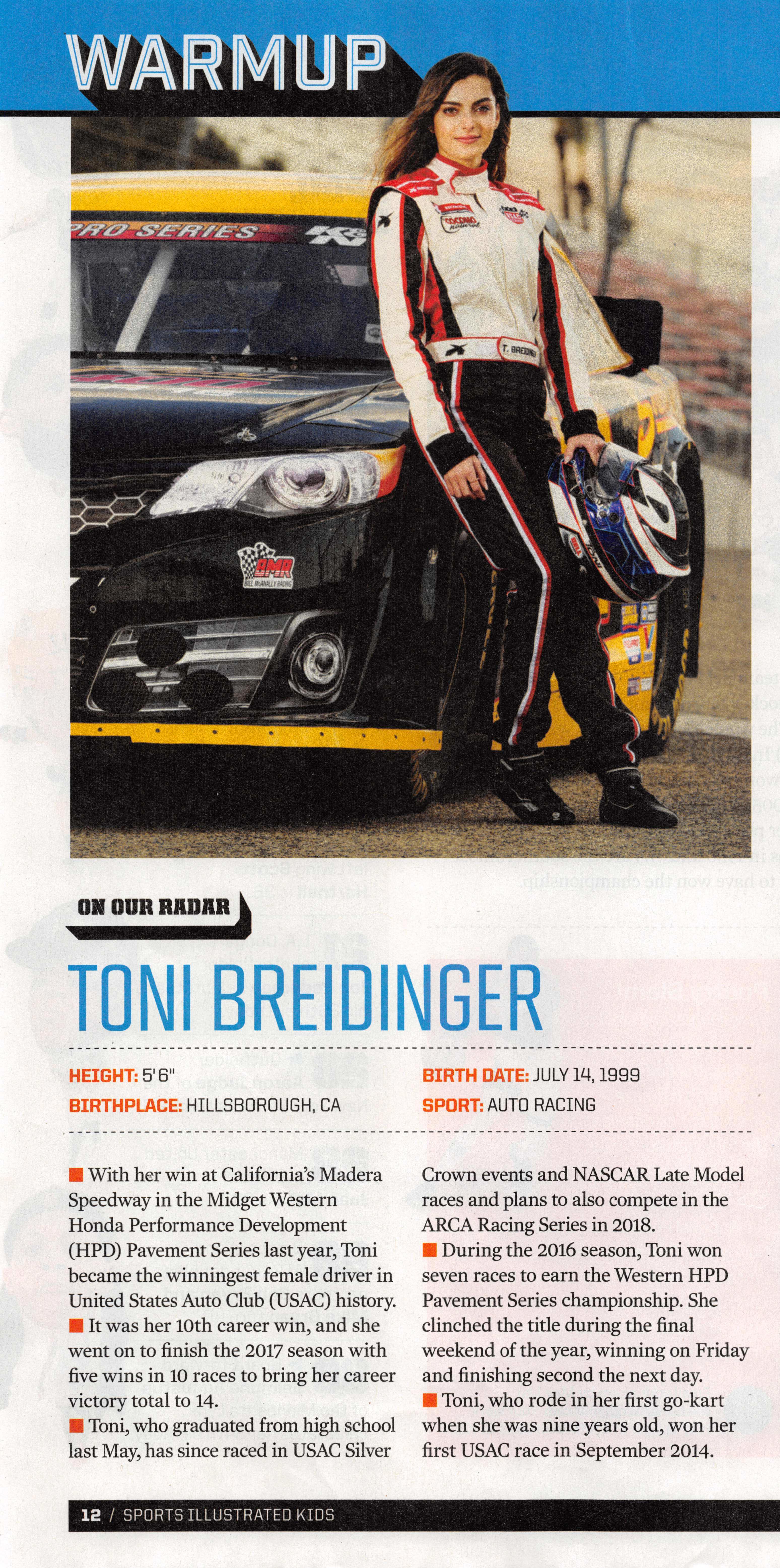 Sports Illustrated Kids feat. Toni Breidinger
